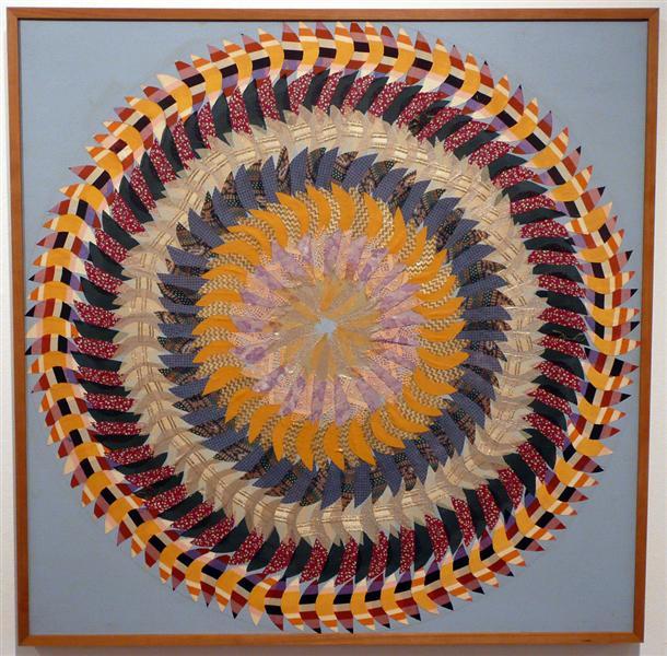 Golden Pinwheel - Miriam Schapiro