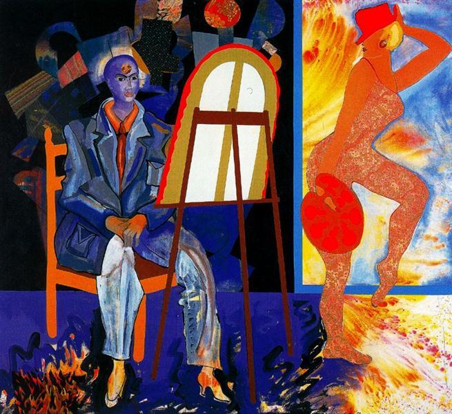 Shrine. Homage to Cézanne, 1963 - Miriam Schapiro