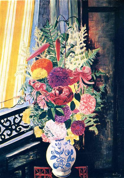 Bouquet of various flowers, 1927 - Moise Kisling