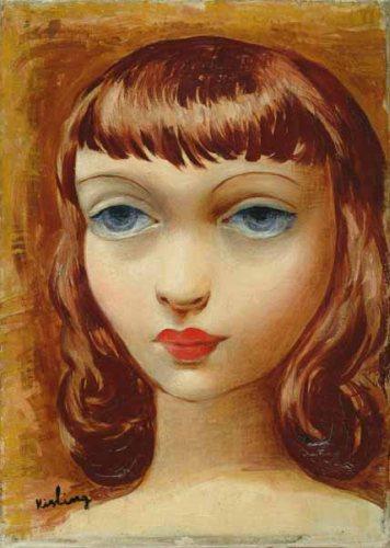 Head of a girl - Moise Kisling