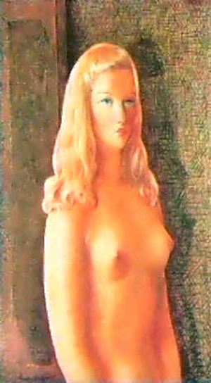 Nude woman with blonde hair, 1942 - Moïse Kisling