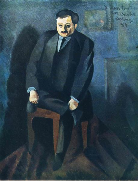 Portrait of Adolphe Basler, 1914 - Moise Kisling