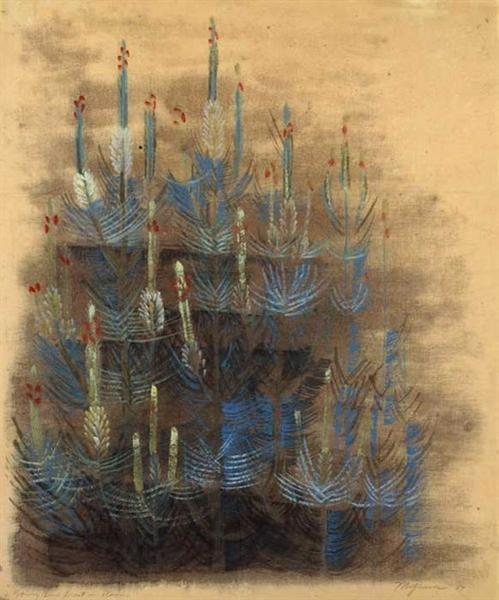 Young forest pine in bloom, 1947 - Morris Graves