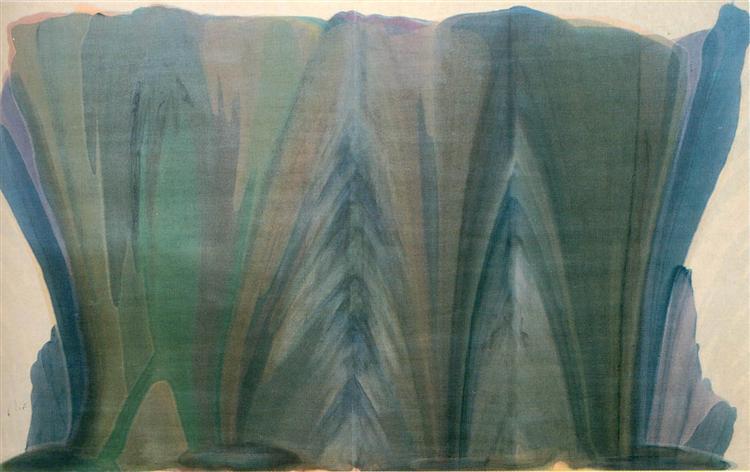 Blue Veil, 1958 - Morris Louis