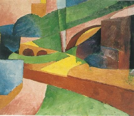 Untitled (Landscape with Bridge) - Morton Shamberg