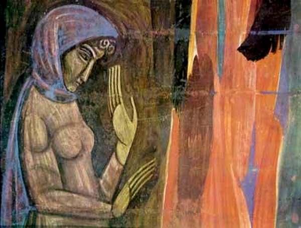Дівчина, c.1915 - Михайло Бойчук