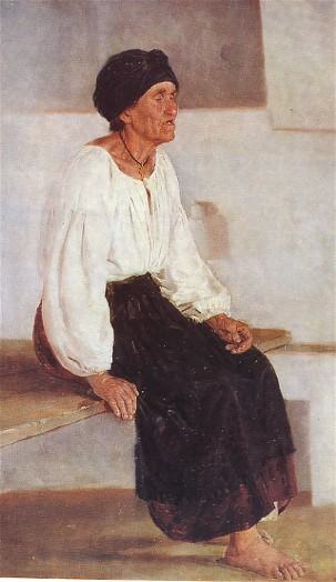 Blind Old Woman, 1888 - Mykola Pymonenko