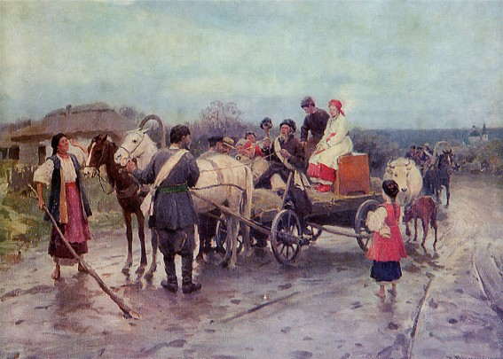 Buying out the Bride - Mykola Pymonenko