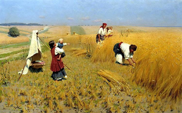 Harvest Gathering in Ukraine - Mykola Pymonenko