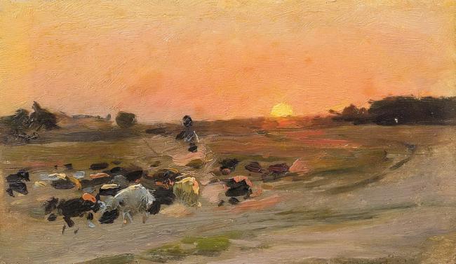 Sheperding the Flock - Mykola Pymonenko