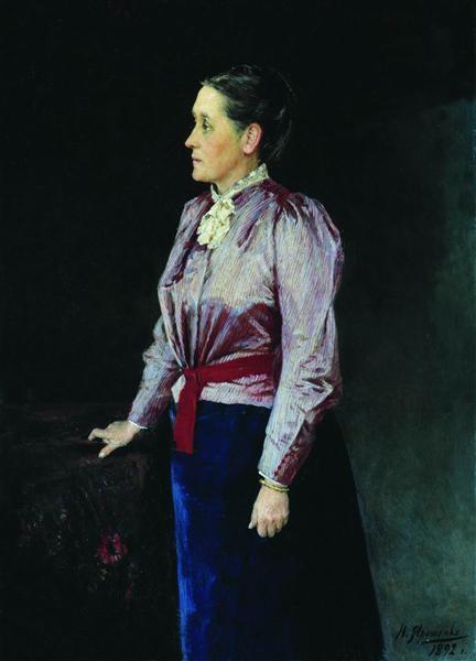 Portrait of S.V. Panina, 1892 - Николай  Ярошенко