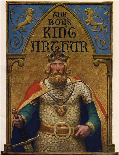 Title page of The Boy's King Arthur, 1922 - Ньюел-Конверс Ваєт