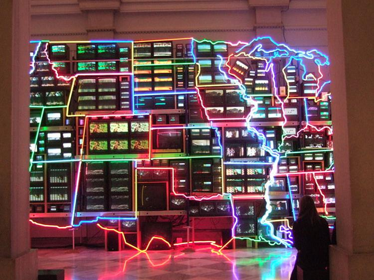 Electronic Superhighway: Continental U.S., Alaska, Hawaii, 1996 - Nam June Paik