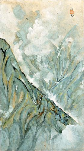 Darjeeling and Fog, 1945 - Nandalal Bose