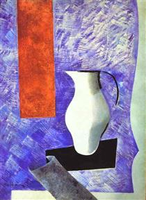 Still Life with a White Jug - Nathan Altman