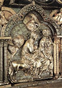 Shrine of the Virgin (Detail. The Flight into Egypt) - Nicholas of Verdun