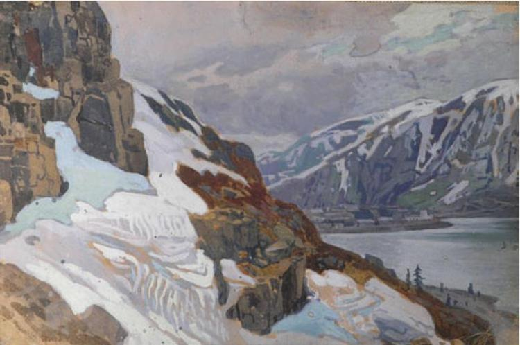 Sketch made by travelling in Italy and Switzerland, 1906 - Nicholas Roerich