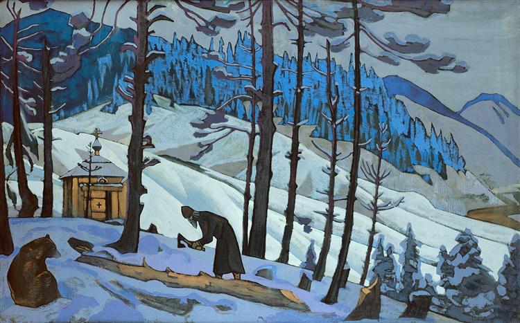 St. Sergius the Buildert, 1925 - Nicholas Roerich