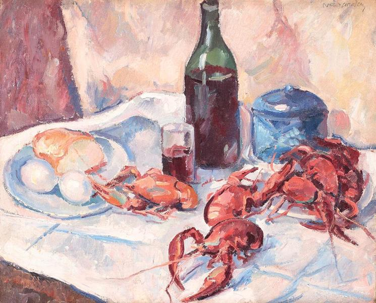 Still Life with Lobsters, 1925 - Nicolae Darascu