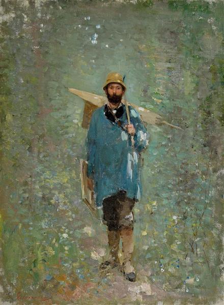 Andreescu at Barbizon, 1880 - Nicolae Grigorescu