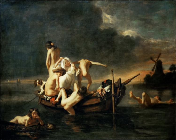 The Bath - Nicolaes Maes
