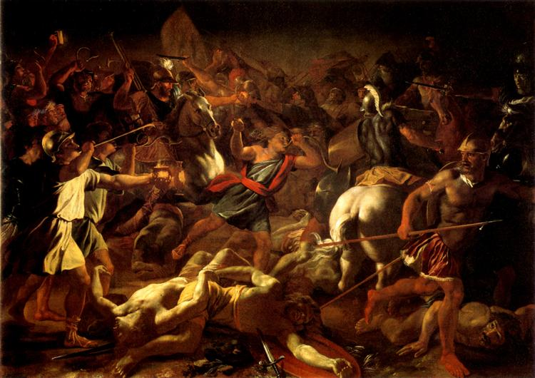 Battle of Gideon Against the Midianites - Poussin Nicolas