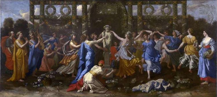 Hymenaios Disguised as a Woman During an Offering to Priapus, c.1634 - 1638 - Nicolas Poussin