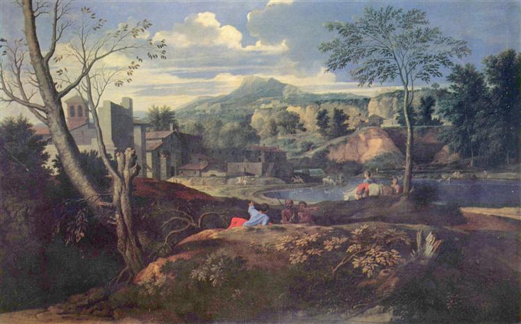 Ideal Landscape, c.1645 - 1650 - Nicolas Poussin