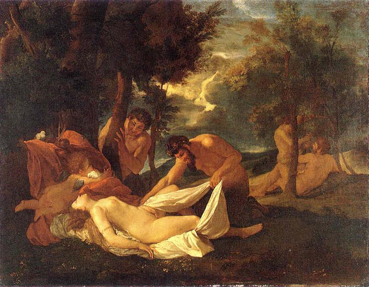 Sleeping Venus, surprised by Satyr, 1626 - Ніколя Пуссен