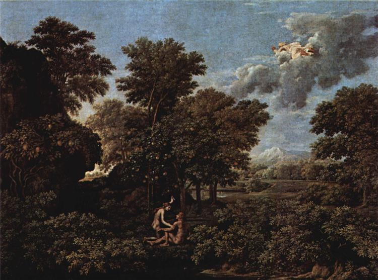 Spring (The Earthly Paradise) - Poussin Nicolas