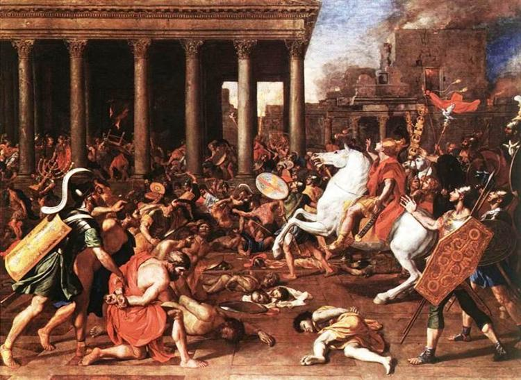 The destruction of the Temple at Jerusalem, 1637 - Nicolas Poussin