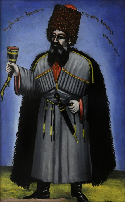 Man with a horn for drinking wine (Portrait of Meliton Chkheidze), 1906