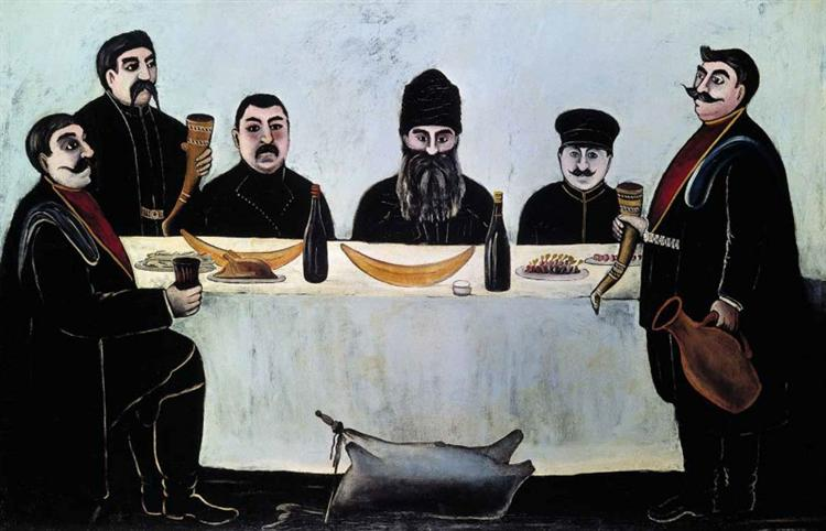 The feast - Niko Pirosmani