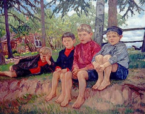 Boys - Nikolay Bogdanov-Belsky