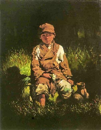 Country Boy - Nikolay Bogdanov-Belsky