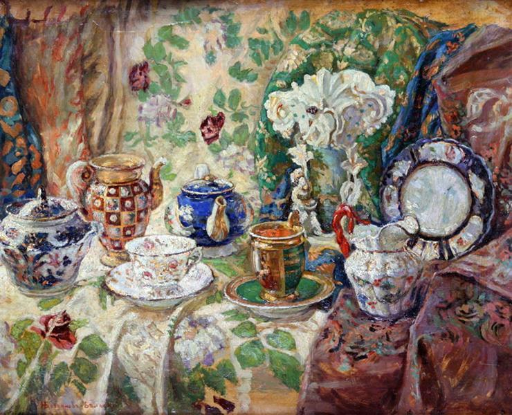 Still Life, c.1920 - Nikolay Bogdanov-Belsky