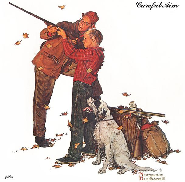 Careful Aim, 1961 - Norman Rockwell