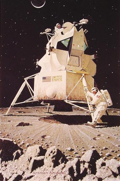 Man on the Moon, 1967 - Norman Rockwell
