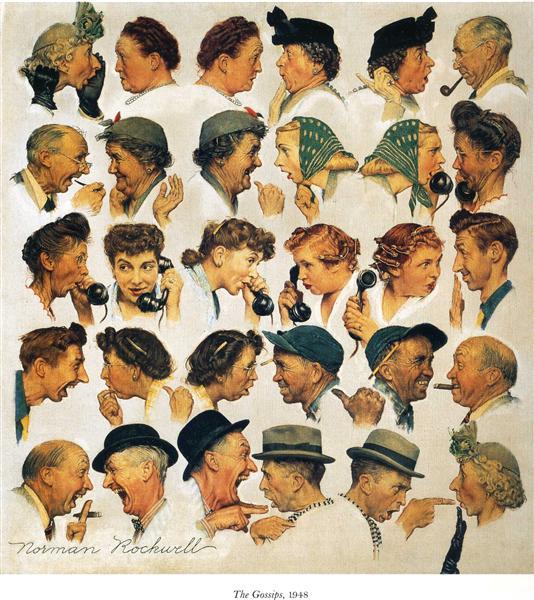 The gossips - Norman Rockwell