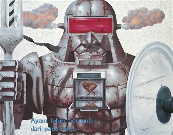 Robot dapur (Kitchen robot), 2009 - Nyoman Masriadi