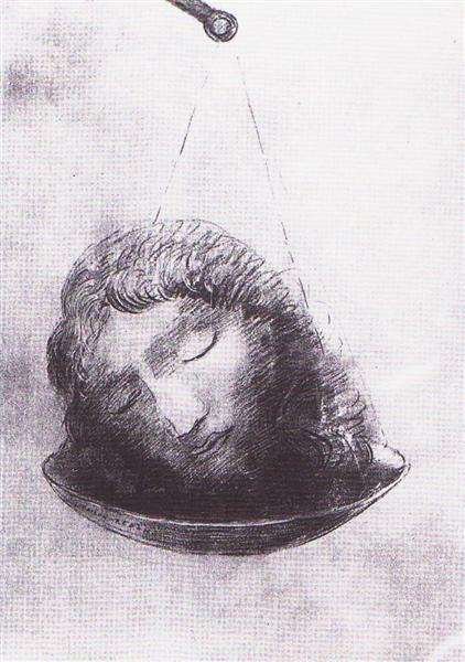 In the balance, c.1880 - Odilon Redon