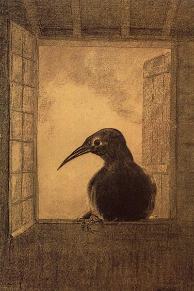 The Raven, 1882 - Odilon Redon
