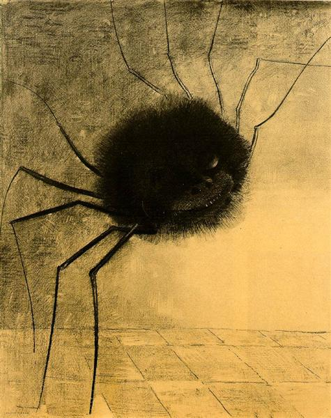 The Smiling Spider, 1891 - Odilon Redon