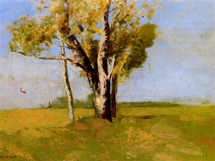 Trees, c.1875 - Odilon Redon