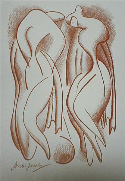 Bathers, 1950 - Olexandr Archipenko
