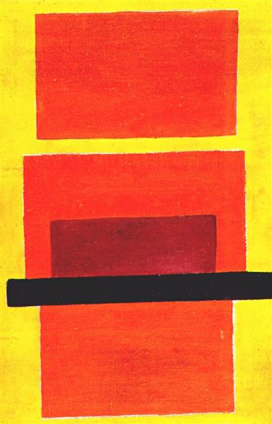 Color Painting (Non-Objective Composition), 1917 - Olga Rozanova