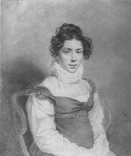 Gurko V. D. (female portrait), 1814 - Orest Kiprensky