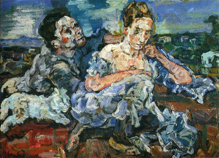 Lovers with Cat, 1917 - Oskar Kokoschka