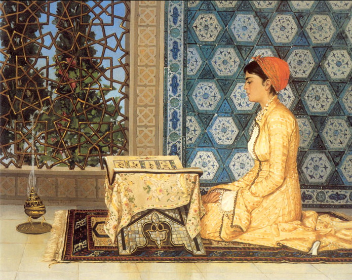 Girl Reciting Qu'ran, 1880 - Osman Hamdi