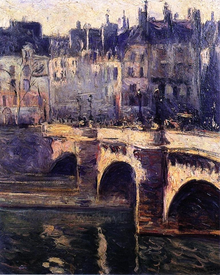 The Pont Neuf Paris 1902 Othon Friesz Wikiart Org